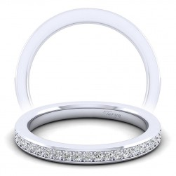 Taryn 14 Karat White Gold Straight Wedding Band TW6684W44JJ