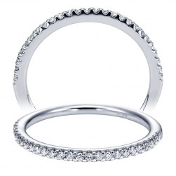 Taryn 14 Karat White Gold Straight Wedding Band TW6949W44JJ