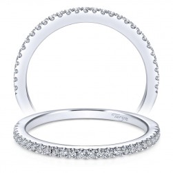 Taryn 14 Karat White Gold Straight Wedding Band TW6958W44JJ