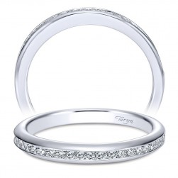 Taryn 14 Karat White Gold Straight Wedding Band TW7472W44JJ