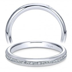 Taryn 14 Karat White Gold Straight Wedding Band TW7474W44JJ