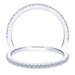 Taryn 14 Karat White Gold Straight Wedding Band TW7497W44JJ