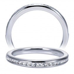 Taryn 14 Karat White Gold Straight Wedding Band TW7883W44JJ