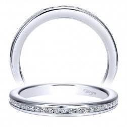Taryn 14 Karat White Gold Straight Wedding Band TW7889W44JJ