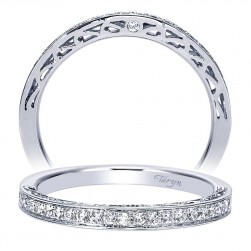 Taryn 14 Karat White Gold Straight Wedding Band TW7903W44JJ