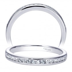 Taryn 14 Karat White Gold Straight Wedding Band TW7985W44JJ