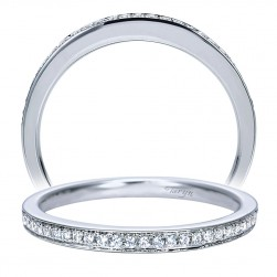 Taryn 14 Karat White Gold Straight Wedding Band TW7990W44JJ