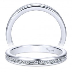 Taryn 14 Karat White Gold Straight Wedding Band TW8132W44JJ