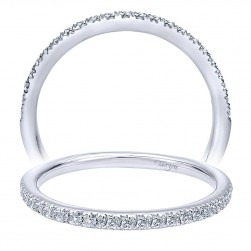 Taryn 14 Karat White Gold Straight Wedding Band TW8444W44JJ