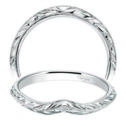 Taryn 14 Karat White Gold Straight Wedding Band TW8485W4JJJ
