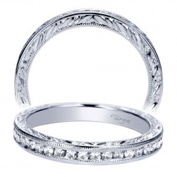 Taryn 14 Karat White Gold Straight Wedding Band TW8551W44JJ