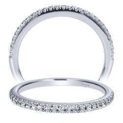 Taryn 14 Karat White Gold Straight Wedding Band TW8566W44JJ
