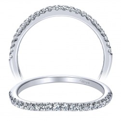 Taryn 14 Karat White Gold Straight Wedding Band TW8575W44JJ