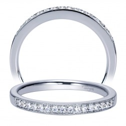 Taryn 14 Karat White Gold Straight Wedding Band TW8594W44JJ