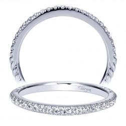 Taryn 14 Karat White Gold Straight Wedding Band TW8653W44JJ