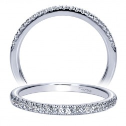 Taryn 14 Karat White Gold Straight Wedding Band TW8657W44JJ
