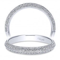 Taryn 14 Karat White Gold Straight Wedding Band TW8665W44JJ