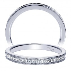 Taryn 14 Karat White Gold Straight Wedding Band TW8673W44JJ