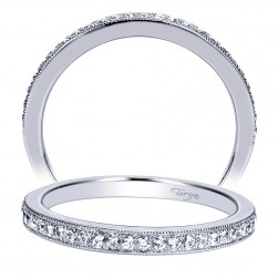 Taryn 14 Karat White Gold Straight Wedding Band TW8687W44JJ