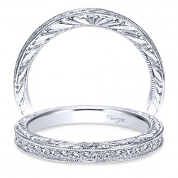 Taryn 14 Karat White Gold Straight Wedding Band TW8802W44JJ