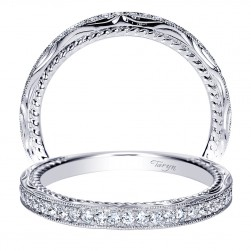 Taryn 14 Karat White Gold Straight Wedding Band TW8818W44JJ
