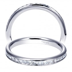 Taryn 14 Karat White Gold Straight Wedding Band TW8859W44JJ