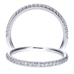 Taryn 14 Karat White Gold Straight Wedding Band TW8860W44JJ