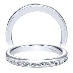 Taryn 14 Karat White Gold Straight Wedding Band TW8893W44JJ