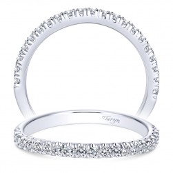 Taryn 14 Karat White Gold Straight Wedding Band TW8903W44JJ