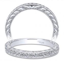 Taryn 14 Karat White Gold Straight Wedding Band TW8918W44JJ