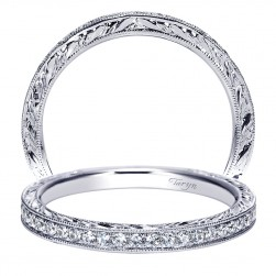 Taryn 14 Karat White Gold Straight Wedding Band TW8922W44JJ