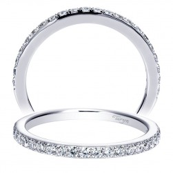 Taryn 14 Karat White Gold Straight Wedding Band TW8973W44JJ