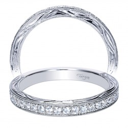 Taryn 14 Karat White Gold Straight Wedding Band TW8986W44JJ