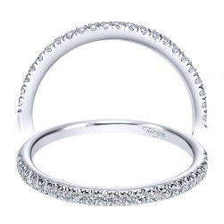 Taryn 14 Karat White Gold Straight Wedding Band TW8994W44JJ