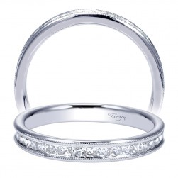 Taryn 14 Karat White Gold Straight Wedding Band TW9046W44JJ