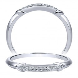 Taryn 14 Karat White Gold Straight Wedding Band TW911731S1W44JJ