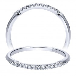 Taryn 14 Karat White Gold Straight Wedding Band TW911786R0W44JJ