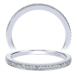Taryn 14 Karat White Gold Straight Wedding Band TW911867R0W44JJ