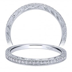 Taryn 14 Karat White Gold Straight Wedding Band TW911880R0W44JJ