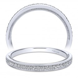 Taryn 14 Karat White Gold Straight Wedding Band TW911932R0W44JJ
