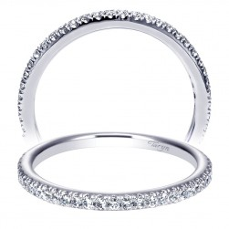 Taryn 14 Karat White Gold Straight Wedding Band TW9192W44JJ