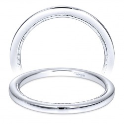 Taryn 14 Karat White Gold Straight Wedding Band TW9208W4JJJ