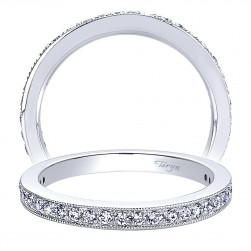 Taryn 14 Karat White Gold Straight Wedding Band TW9335W44JJ