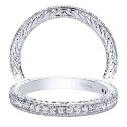 Taryn 14 Karat White Gold Straight Wedding Band TW9418W44JJ