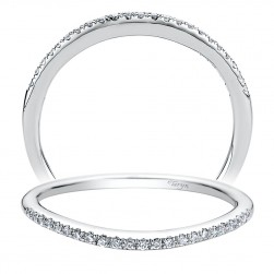 Taryn 14 Karat White Gold Straight Wedding Band TW9479W44JJ