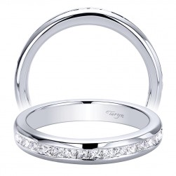 Taryn 14 Karat White Gold Straight Wedding Band TW9543W44JJ