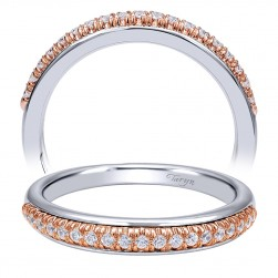 Taryn 14 Karat White/Rose Gold Straight Wedding Band TW10765T44JJ