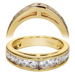 Taryn 14 Karat Yellow Gold Straight Wedding Band TW1707Y43JJ
