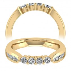 Taryn 14 Karat Yellow Gold Straight Wedding Band TW3993Y44JJ