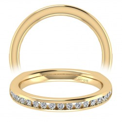 Taryn 14 Karat Yellow Gold Straight Wedding Band TW6640Y44JJ
